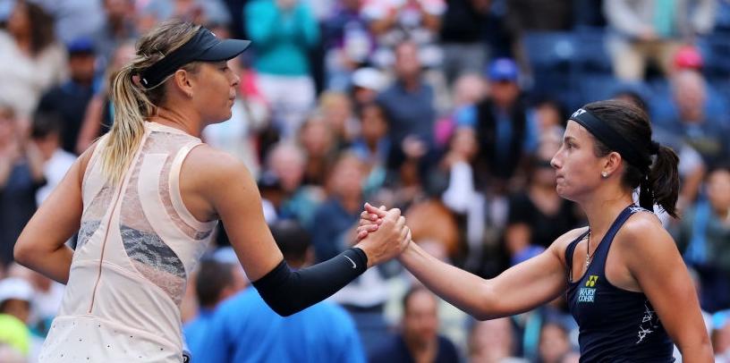 Sevastova acaba com o percurso da regressada Sharapova nos 'oitavos' do US Open