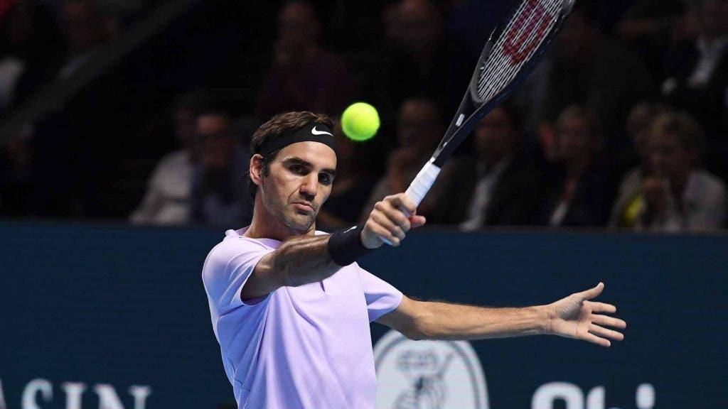 Roger Federer derrota Jack Sock e obtém a primeira vitória nas Finals de Londres