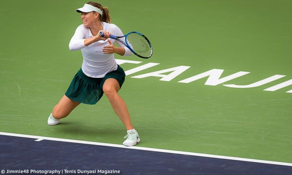 Sharapova entra em Tianjin com vitória tranquila sobre cabeça-de-série