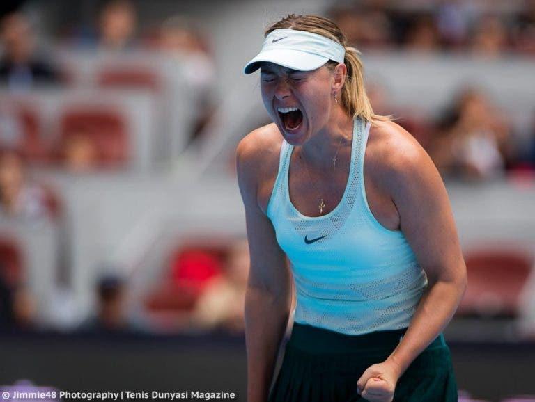À CAMPEÃ. Sharapova conquista em Tianjin primeiro título desde a suspensão