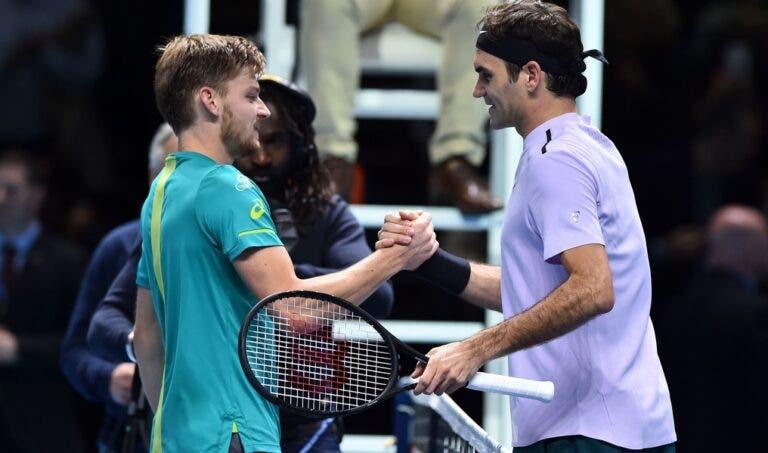 Federer sobre a final com Goffin: «O nosso confronto direto dá-me confiança»