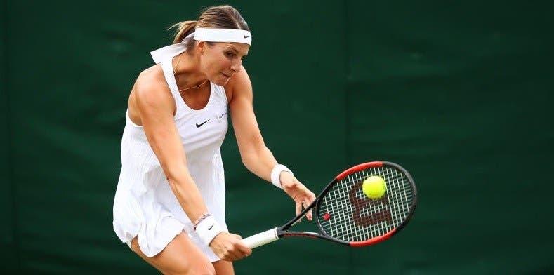 [FOTO] Mandy Minella, que jogou Wimbledon grávida de 4 meses e meio, já foi mãe