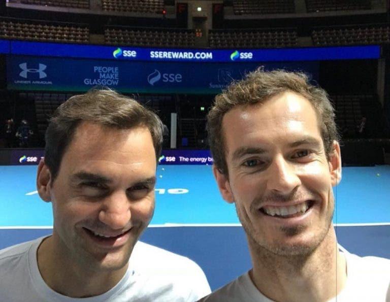 Roger Federer também deixa mensagem a Andy Murray: «É bom para o circuito tê-lo de volta. O Andy é um vencedor»
