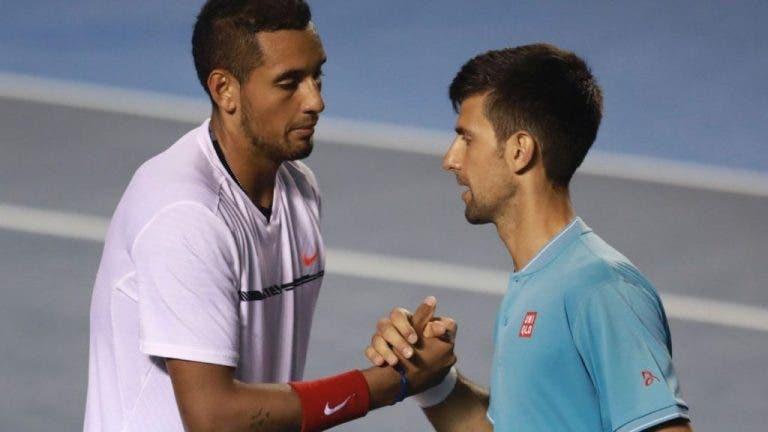 Kyrgios também se atira (novamente) a Djokovic: «Ele não agrada os tenistas»