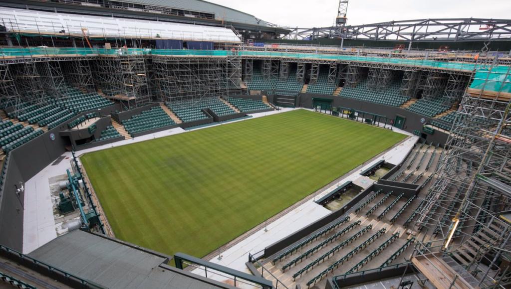 [FOTOS] Assim está o (em breve novíssimo) Court n.º 1 de Wimbledon