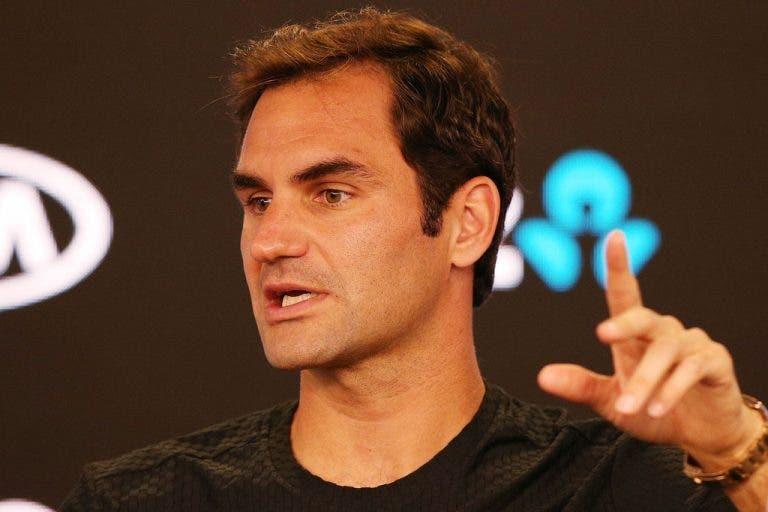 Federer dispara: «Não acredito no que o Tomic e Kyrgios dizem. Nem no que o Agassi disse no livro»