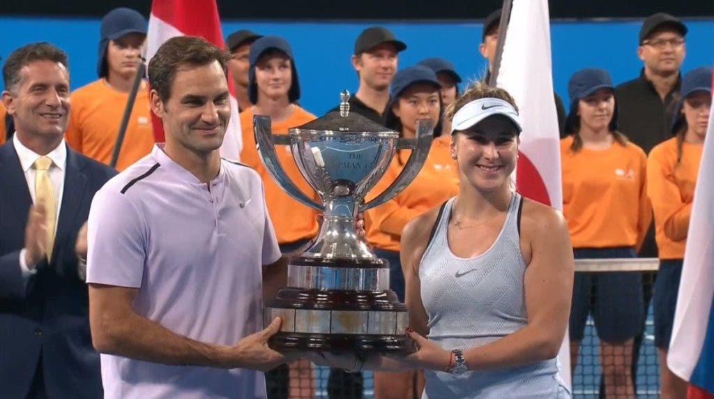 Federer campeão da Hopman Cup ao lado de Bencic, 17 anos depois de vencer a prova com Hingis