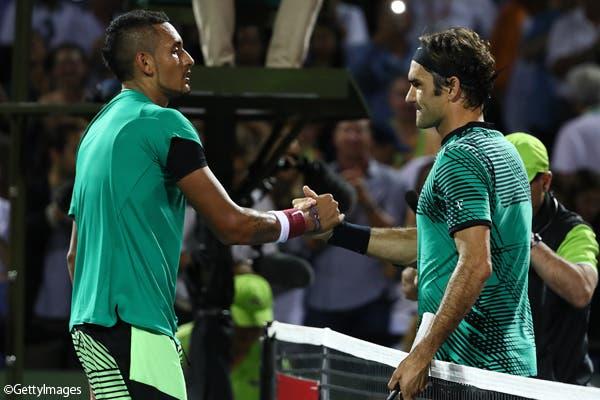 Federer: «Kyrgios tem um talento incrível mas precisa de trabalhar muito mais»
