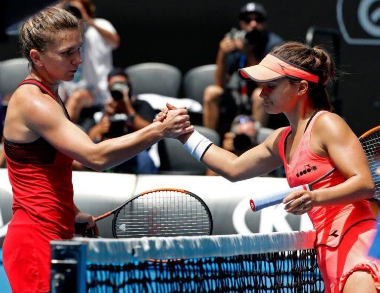 Jogaço de Simona Halep e Lauren Davis fica para a história do Open da Austrália