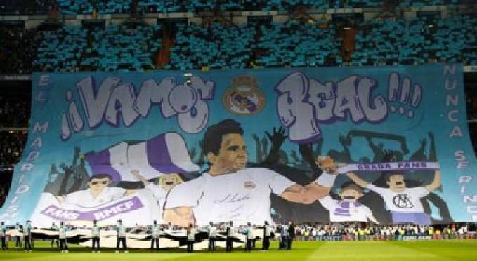 Real Madrid utilizou tela gigante (!) de Rafa Nadal para motivar Cristiano Ronaldo e companhia