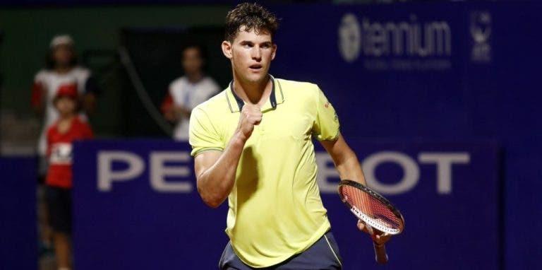 Thiem desliza na terra batida rumo ao título em Buenos Aires