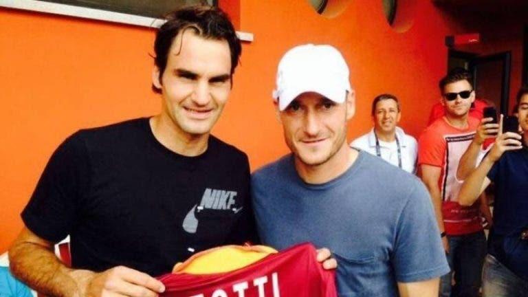 Francesco Totti: «Espero que o Federer jogue por muitos mais anos»