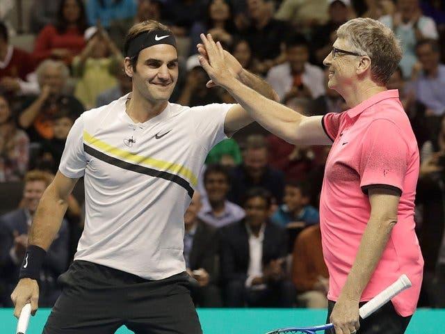 Match for Africa 5: Federer e Bill Gates dão espetáculo e amealham 2,5 milhões de dólares