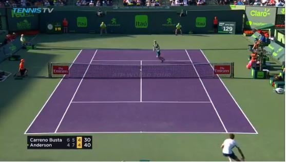 [VÍDEO] Carreno Busta protagoniza um dos ponto do torneio em Miami