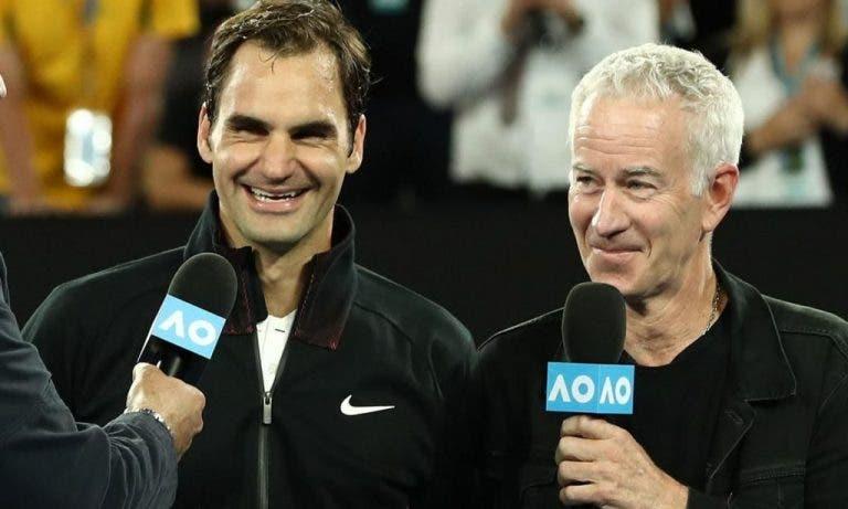 McEnroe: «Entusiasmei-me e sei que o Federer não gostou»