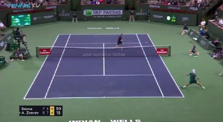 [VÍDEO] Sousa ganhou ponto BRUTAL diante de Sascha Zverev