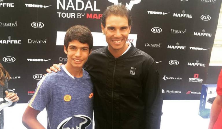 O jogador mais novo do ranking ATP nasceu em 2003 e é espanhol
