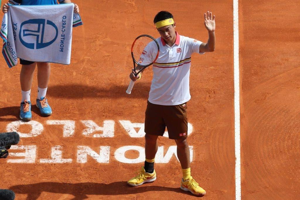Nishikori derruba Berdych a caminho da segunda ronda em Monte Carlo