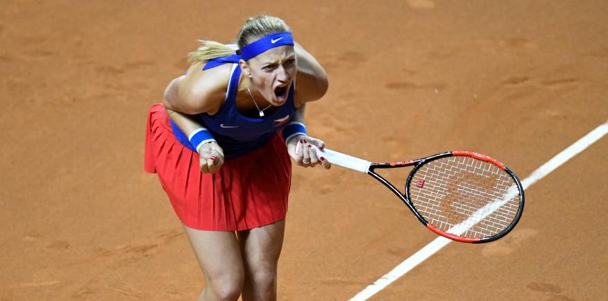 Fed Cup. Kvitova arrasa Kerber em 58 minutos e a Rep. Checa está na final