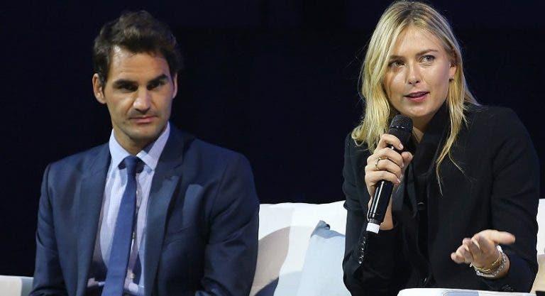 Sharapova elogia Federer: «Uma inspiração também fora do court»
