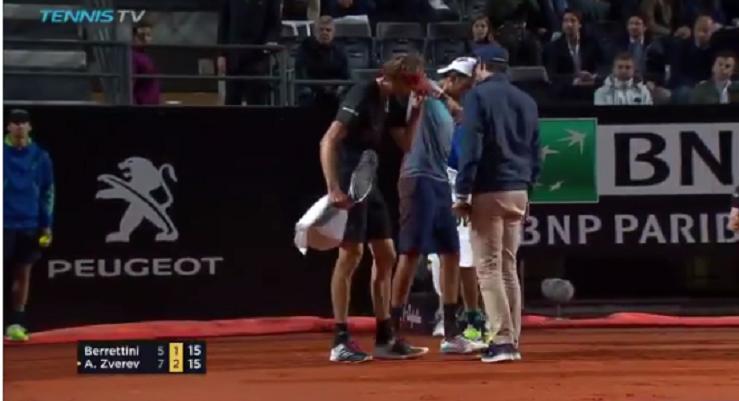 [VÍDEO] Alexander Zverev com bonito gesto de desportivismo em Roma