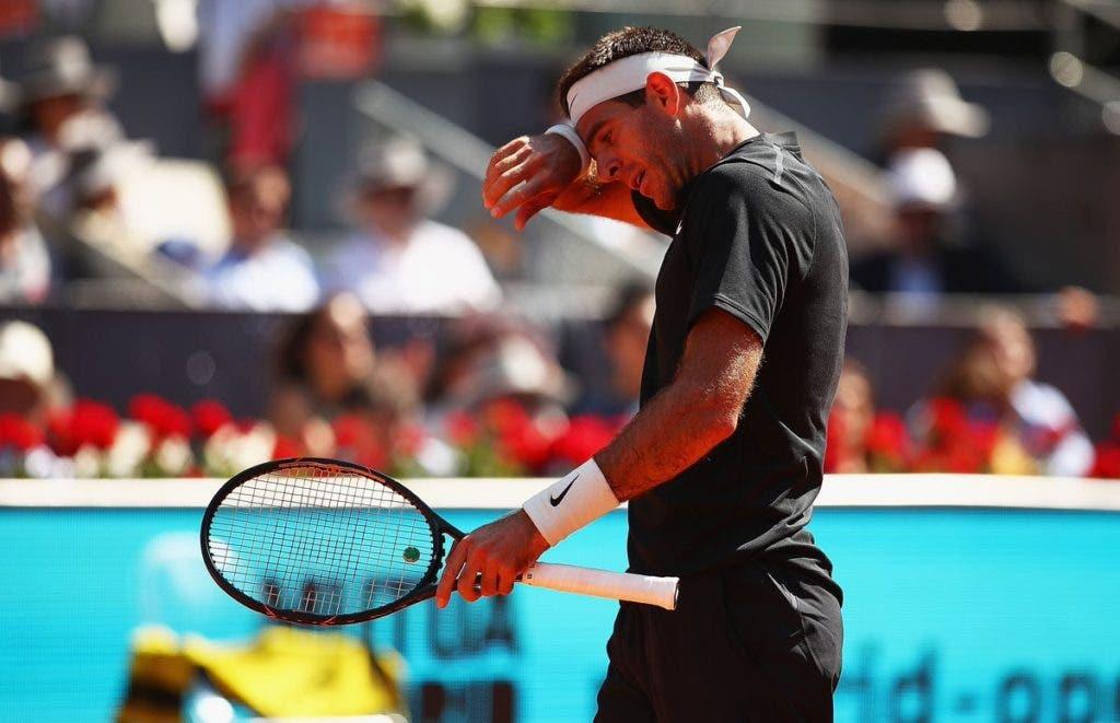 [VÍDEO] Del Potro dá esticão na virilha e desiste de Roma em vésperas de Roland Garros
