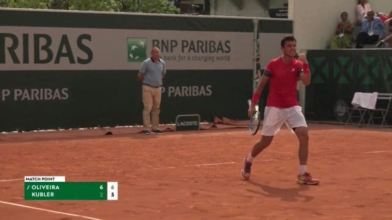 Gonçalo Oliveira bate ex-número um mundial de juniores e soma 1.ª vitória da carreira em Grand Slam