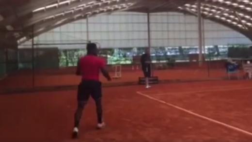 [VÍDEO]  último treino de Tiafoe em Portugal antes de partir para Roma
