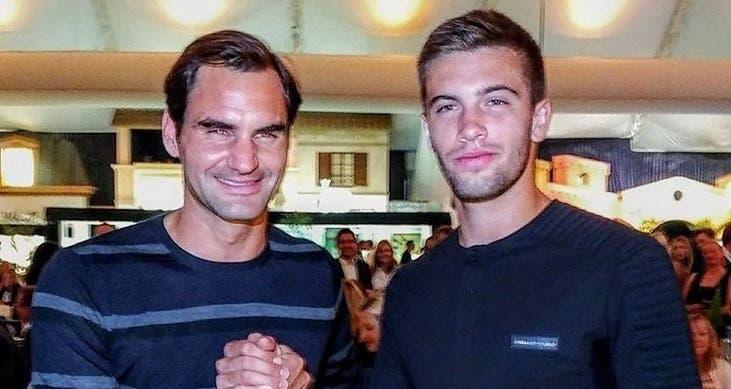 [FOTOS] Coric e Federer juntos ao jantar na noite antes da final de Halle