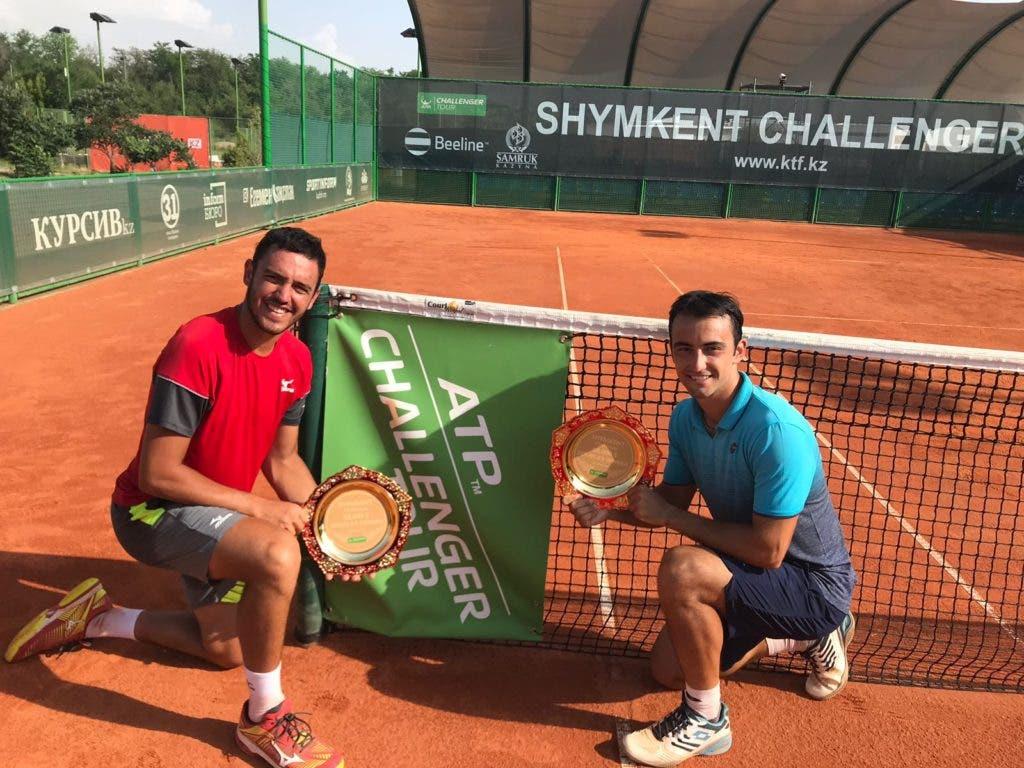 CAMPEÃO. Gonçalo Oliveira conquista segundo título de pares 'challenger' da carreira no Cazaquistão