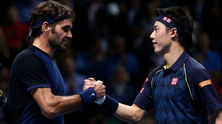 Nishikori e o seu encontro de sonho: «Voltar a jogar contra o meu ídolo Federer»
