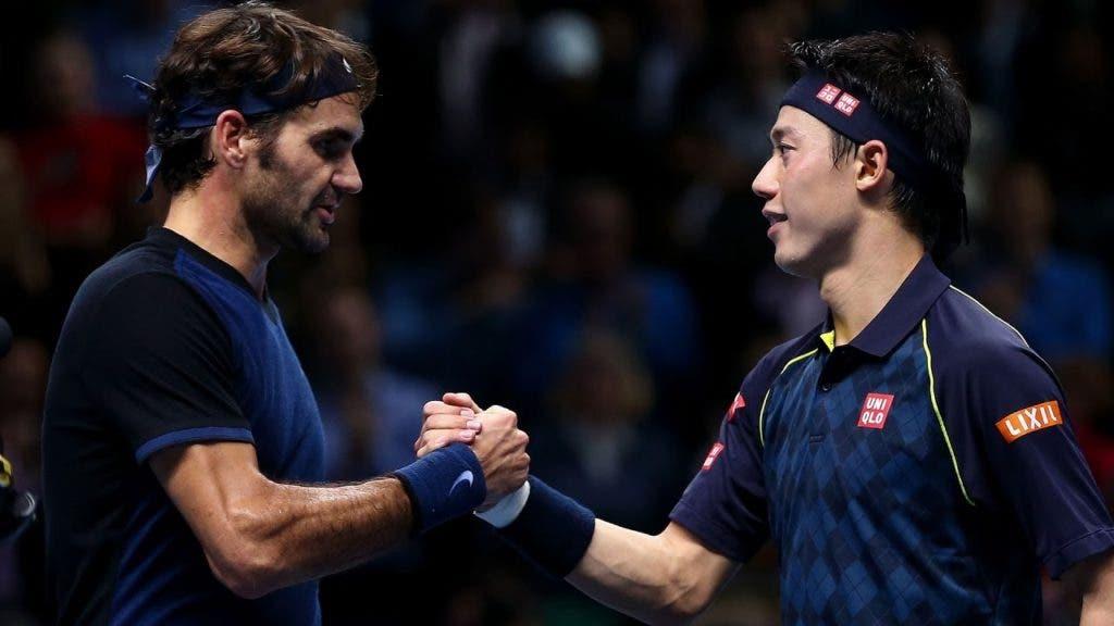 Nishikori dá as 'boas-vindas' a Federer na Uniqlo: «Espero que o contrato inclua jogarmos pares»