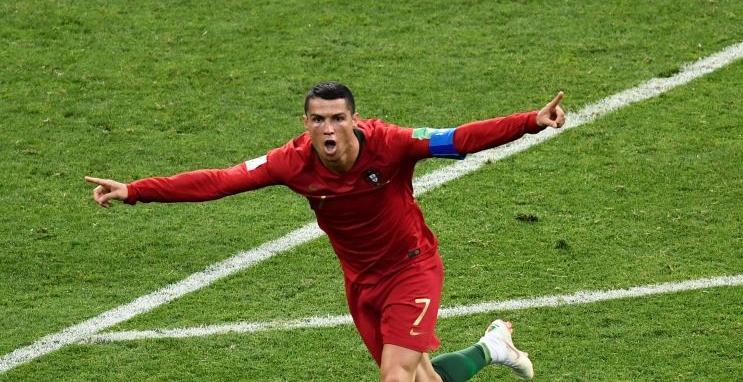 Nem os tenistas ficaram indiferentes…  a Cristiano Ronaldo
