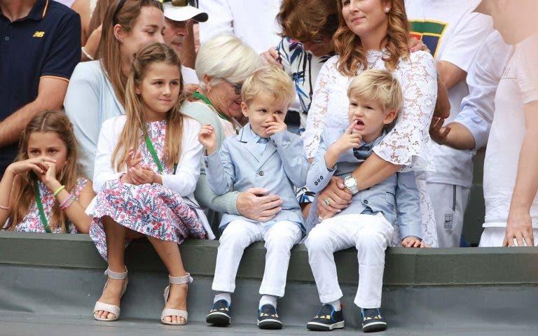 Federer não quer volta a ser pai até se retirar