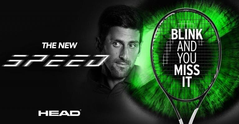 [FOTOS] Djokovic apresenta a sua nova raqueta