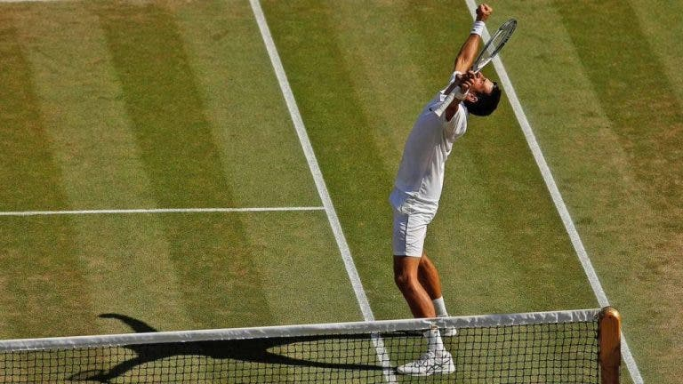 O MATCH POINT que consagrou Djokovic em Wimbledon