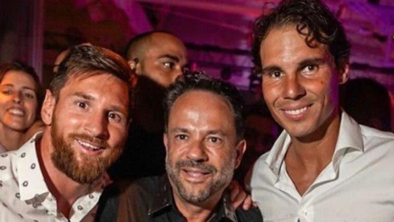 De férias em Ibiza, Nadal conheceu… Messi!