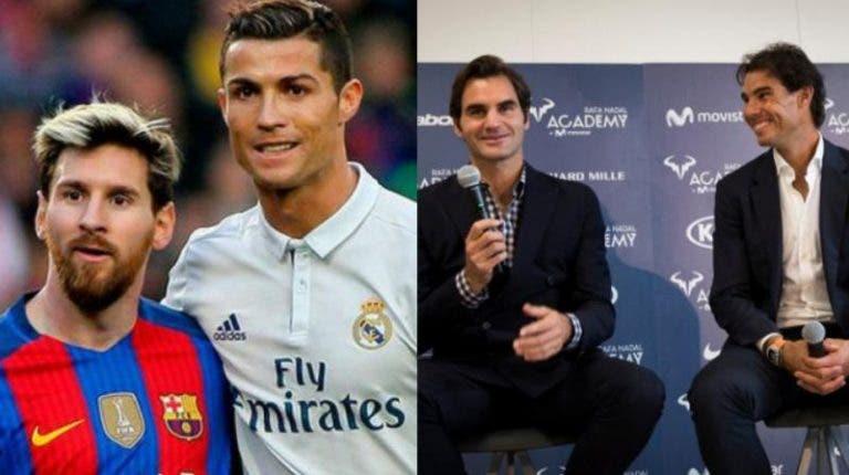 Nadal está para Ronaldo como Federer para Messi? Ex-internacional italiano diz que sim