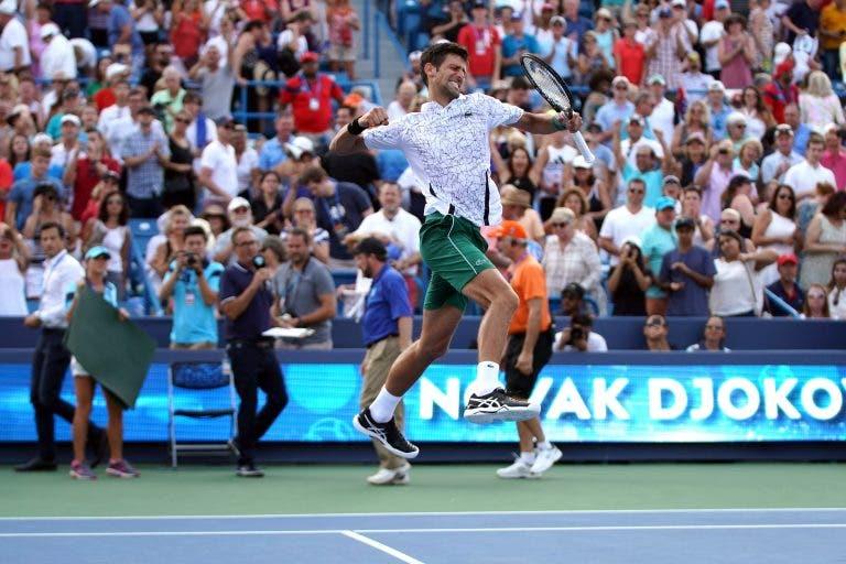 Djokovic: «Venci Wimbledon e agora Cincinnati, parece irreal estar de novo a este nível»