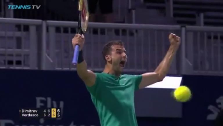 [VÍDEO] De loucos. Dimitrov sobrevive a Verdasco com um dos match points do ano