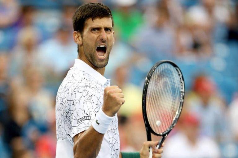 Djokovic resiste rumo à final de Cincinnati e está a uma vitória de feito inédito