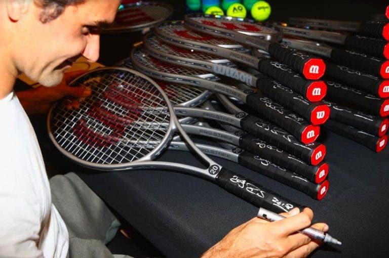 Quantas raquetes gasta Roger Federer por ano?