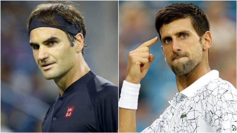 Djokovic: «Federer falhou imenso e não se estava a mexer bem»