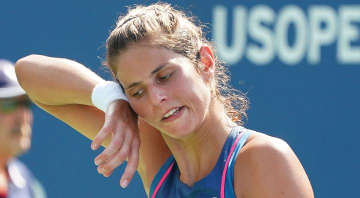 Julia Goerges é a segunda top 10 a cair no US Open