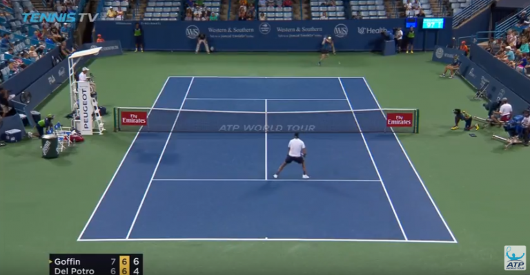 [VÍDEO] Goffin deu show no match point diante de Del Potro