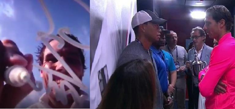 [VÍDEO] Acabado de triunfar em Toronto, Nadal quis saber… do amigo Tiger Woods