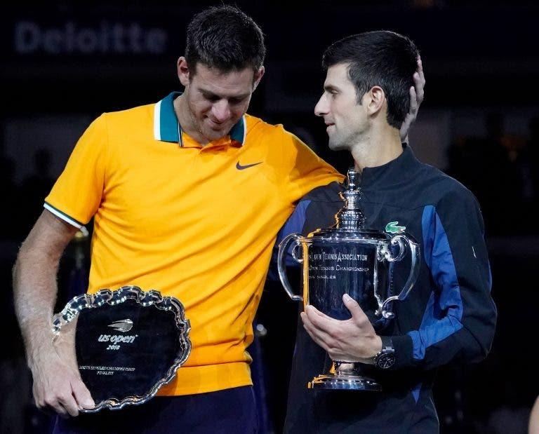 Del Potro: «Djokovic pode bater o recorde de Grand Slams do Federer»