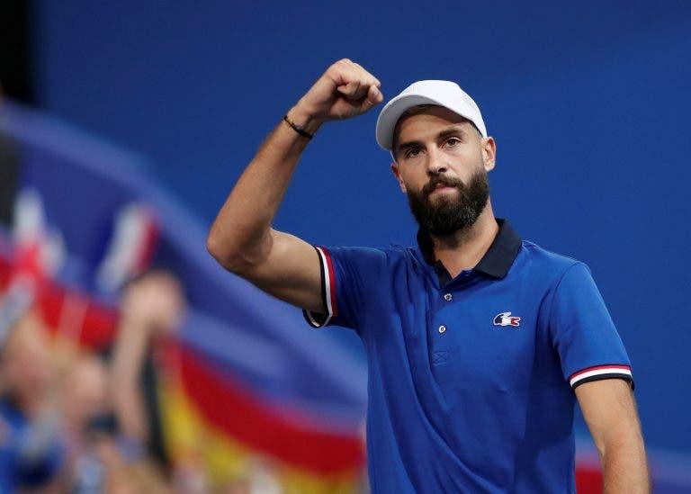 Paire arrasa Carreno Busta e dá vantagem à França nas meias-finais da Taça Davis
