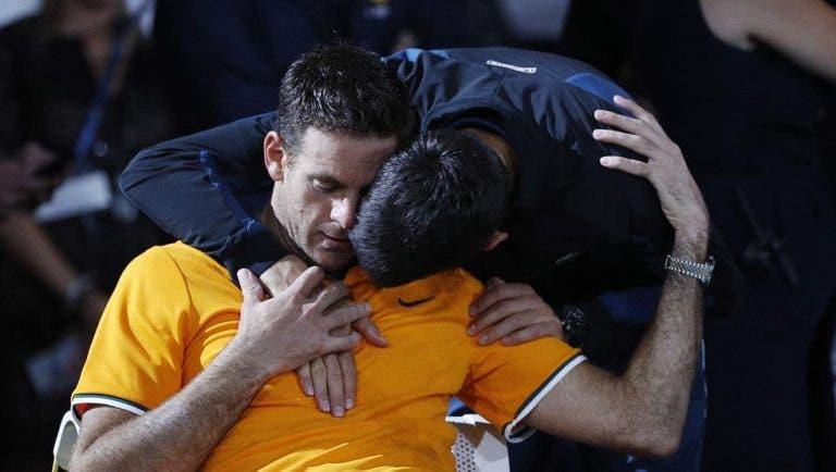 Del Potro revela o que lhe disse Djokovic no emocionante abraço após a final