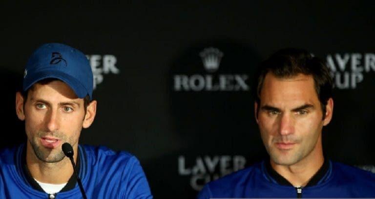 [VÍDEO] Djokovic rendido à ideia de Federer: «A Laver Cup é como um sonho de ténis perfeito»